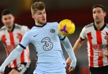 Timo Werner was involved in both Chelsea goals to down Sheffield Utd