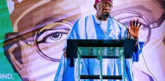 Asiwaju Bola Tinubu delivers his speech at the 12th BAT Colloquium in Kano