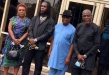 Burna Boy, his parents and Governor Nyesom Wike