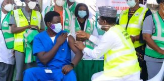 Dr Nyong Cyprain, first Nigerian to receive COVID vaccine