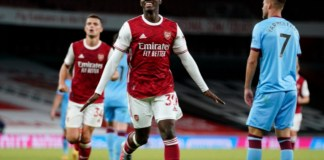Eddie Nketiah scored at the last minute to put Arsenal level with Fulham