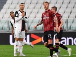 Juventus drop out of top four