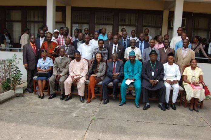 A cross section of participants after a seminar at NISER Ibadan, Oyo State