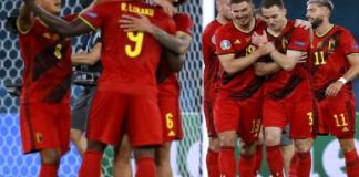 Belgium celebrate win as they qualify for quarter finals