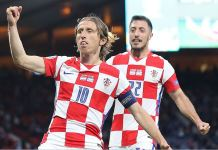 Luka Modric, 35, is the oldest player to score for Croatia at the Euros