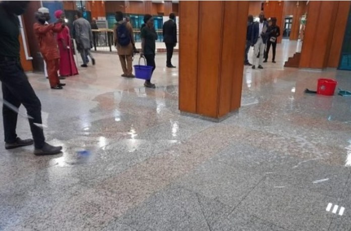 National Assembly building leaks after heavy downpour