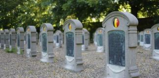 The attack took place at a graveyard in Ghent