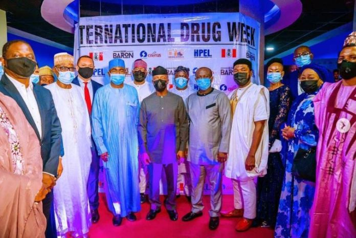 """Vice President Yemi Osinbajo, Friday evening attended the premiere of a movie titled """"The Silent Baron"""", a film produced by Mr Ifeanyi Ukaeru"""