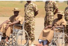 Wounded Nigerian Soldiers