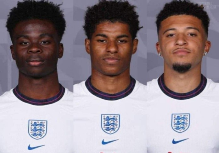 Bukayo Saka, Marcus Rashford and Jadon Sancho were racially abused after all three of them lost the penalties