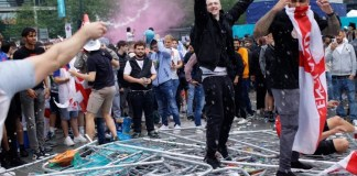 Euro 2020 final, Ticketless English fans broke through security to force their way into Wembley