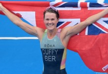 Flora Duffy wins Bermuda's first ever gold medal at the Olympics
