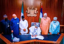 President Muhammadu Buhari signs 2021 Supplementary Budget