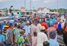 Rotimi Akeredolu welcomed by an ecstatic crowd in Owo, Ondo state