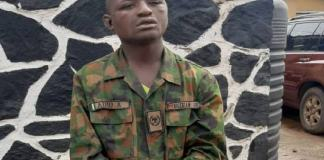Waliu Oloyede allegedly kidnapped a military officer, stripped him of his phone, ID card, ATMs and other valuables