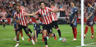 Brentford beat Arsenal 2-0 in their first Premier League match in 74 years