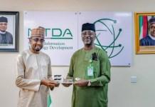 Chief Executive Officer, NITDA, Mallam Kashifu Inuwa Abdullahi CCIE and Director General of NEMA, Mustapha Habib Ahmad
