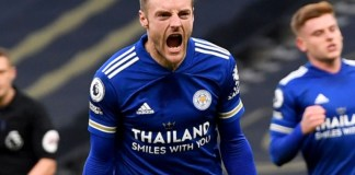 Jamie Vardy scored the decisive goal for Leicester against Wolves