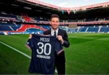 Lionel Messi unveiled at PSG after he agreed a two-year deal