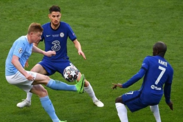 N'Golo Kante, Jorginho and Kevin DeBruyne all played in the Champions League final