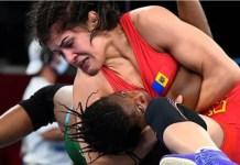 Tokyo Olympics: Odunayo Adekuoroye was pinned down by Mongolia's Anastasia Nichita