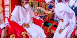 President Buhari's son salutes him