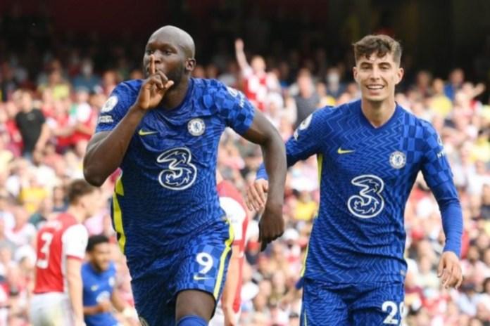 Romelu Lukaku scored his first goal for Chelsea against Arsenal