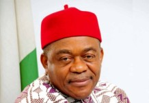 Former Governor of Abia state Senator T.A. Orji