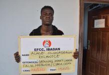 Alade Oluwasegun Kolawole arraigned for fraud