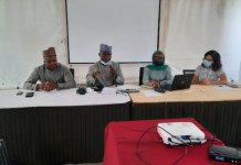 EFCC officials in a meeting with NGOs in Maiduguri, Borno state