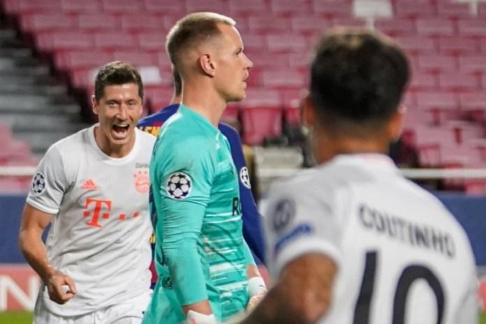 Lewandowski scored twice as Bayern Munich thrashed Barca