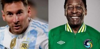 Lionel Messi and Pele