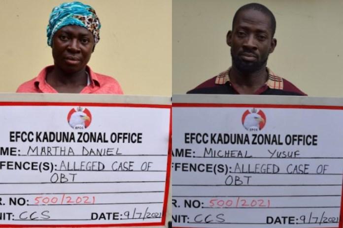 Martha Daniel and Michael Yusuf were arraigned by EFCC for fraud