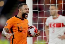Memphis Depay scored his first international hat-trick for Netherlands against Turkey