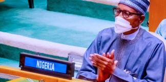 President Muhammadu Buhari at the UN General Assembly in New York