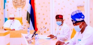 President Muhammadu Buhari in a meeting with NMA