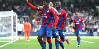 Wilfried Zaha opened the scoring for Crystal Palace against tottenham