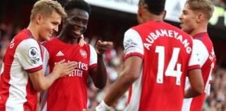 Smith Rowe, Aubameyang and Saka scored as Arsenal dominated Tottenham on Sunday