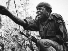 A Biafran soldier during the Nigerian Civil war