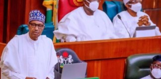 President Muhammadu Buhari presenting the 2022 budget to the National Assembly