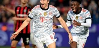 Lewandowski has scored 18 goals in 16 appearances for Bayern this season