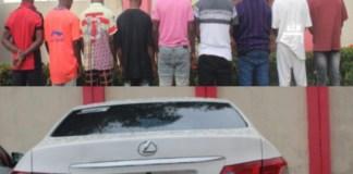 Musa Shaka, Musa Dauda, Oghenekuwe Moses, Oghenekuwe Hezekiah, Akpan Bobby, Ilaya Godstime, Olemene Azubuike, Edevo Success and Atarhe Ochuko were arrested by EFCC in Warri