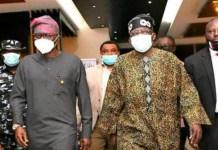 Asiwaju Bola Ahmed Tinubu arrives Lagos as Governor Babajide Sanwo-Olu welcomes him