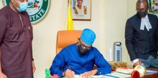 Ogun State governor Dapo Abiodun signs anti-open grazing bill