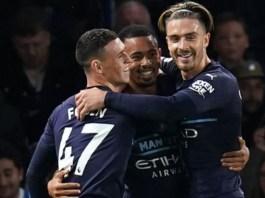Phil Foden scored twice in Man City's 4-1 win at Brighton