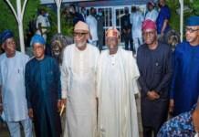 Southwest governors with Asiwaju Bola Ahmed Tinubu