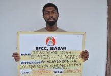 Toluwalade John Olateru Olagbegi, an Owo prince has been arrested for fraud