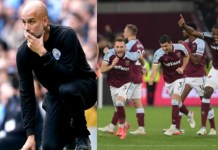West Ham knocked out Man City for the first time since 2016