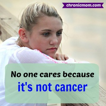 no one cares because it's not cancer