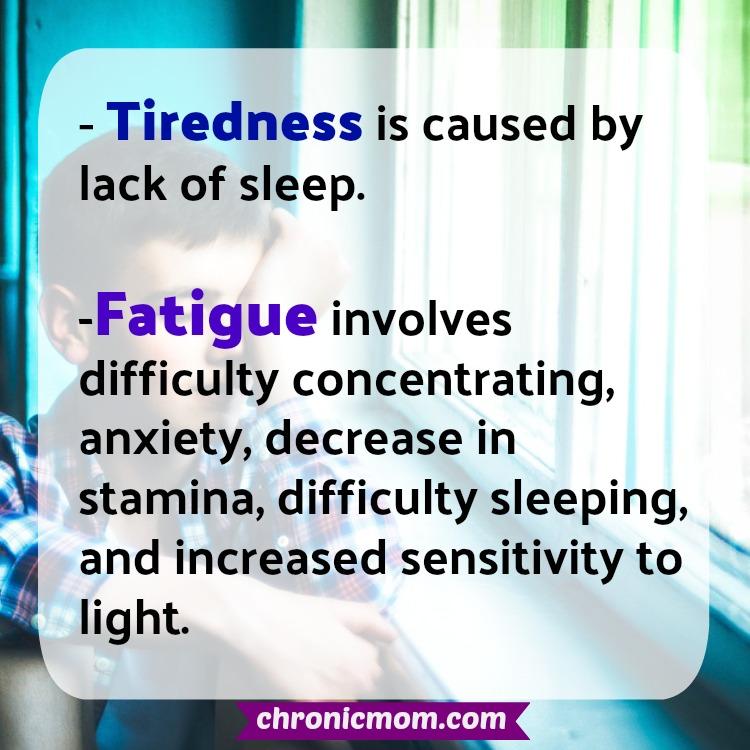 tiredness vs fatigue